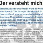 """Artikel über Sprachtechnologie: """"Der versteht mich!"""" aus TeleTalk"""