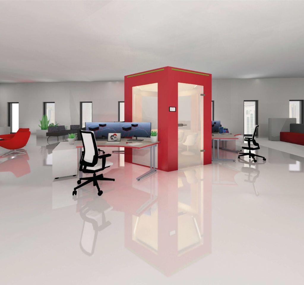 Arbeitsplatz der Zukunft, Cube - ein hybrider Workplace - aixvox ...