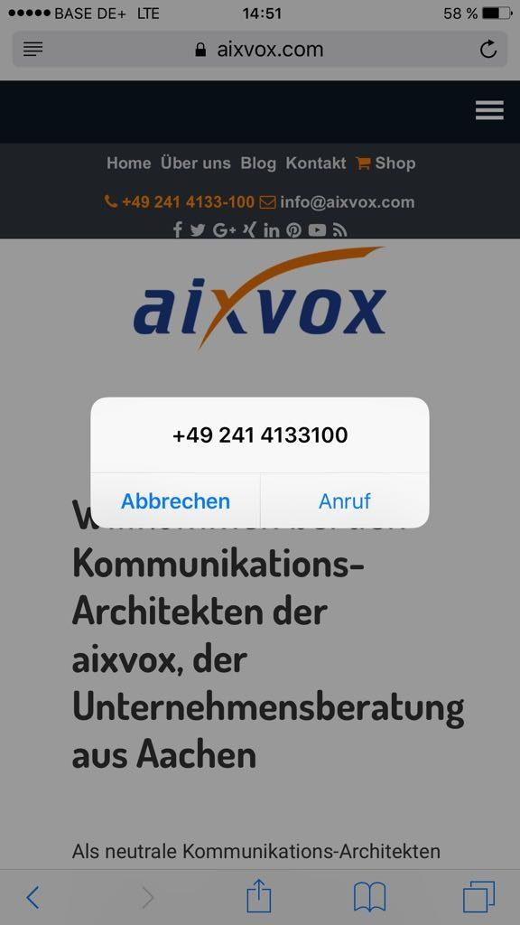 Smartphone-Nutzer können Sie mit einem Klick anrufen