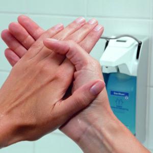 Sterilisierte Hände