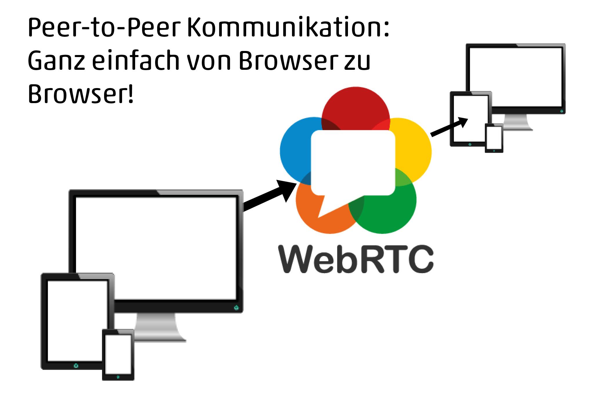Peer-to-Peer Kommunikation: Ganz einfach von Browser zu Browser!