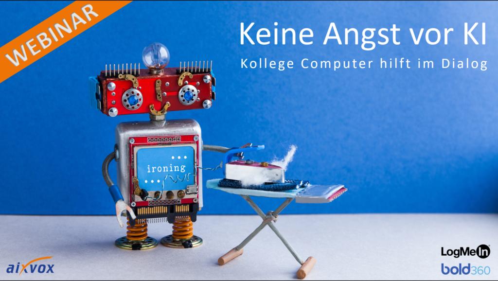 Webinar: Keine Angst vor KI! – Kollege Computer hilft im Dialog