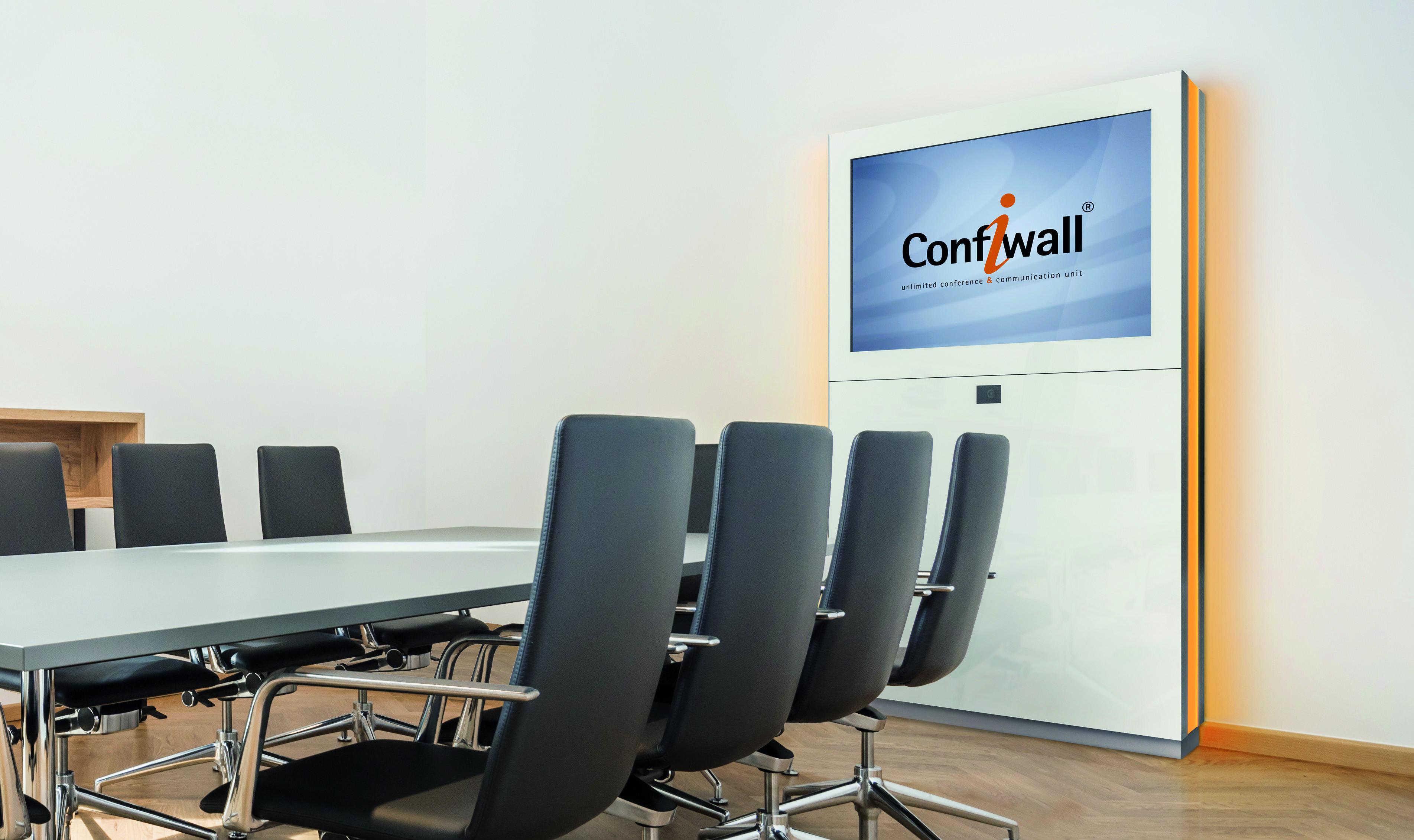 Konferenzraum mit Confiwall