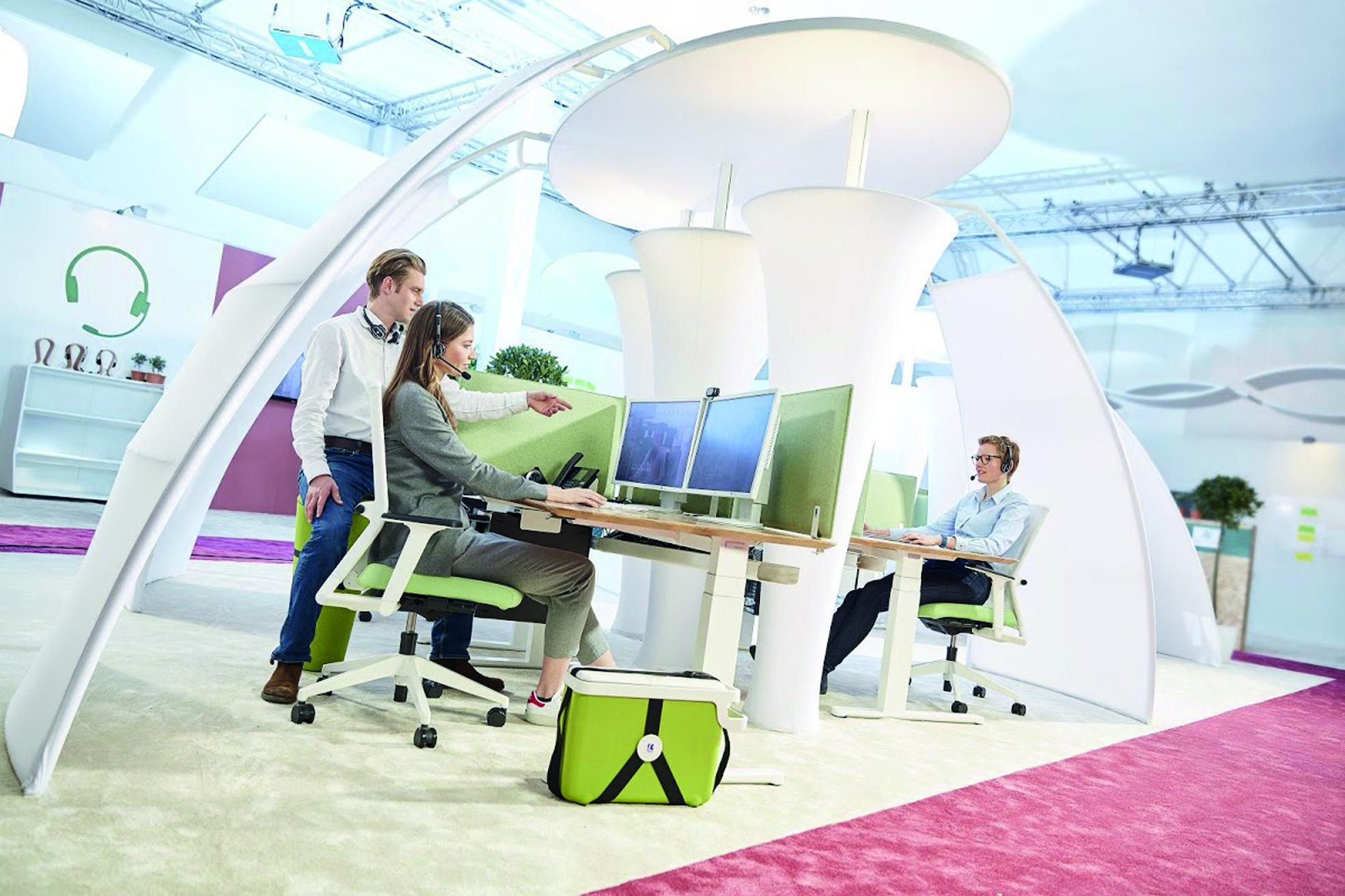 Modernisierte, auf den Mitarbeiter zugeschnittene Arbeitswelt